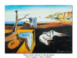 poza The Persistence of Memory - 70x50cm ulei pe panza, repro Salvador Dali, Magistral!