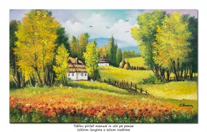 poza Tablou living - O zi minunata de vara (2) - 100x60cm peisaj in ulei pe panza, Magistral!
