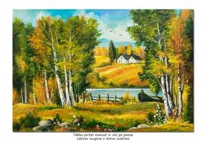 poza Liniste deplina - tablou living GIGANT 120x80cm, pictat in ulei pe panza, Spectaculos!