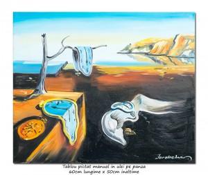 poza The Persistence of Memory - 60x50cm ulei pe panza, repro Salvador Dali, Magistral!
