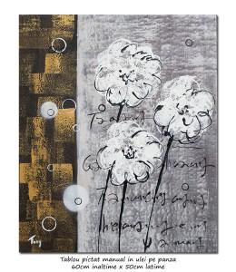poza Tufanele stilizate - pictura moderna ulei pe panza 60x50cm, Superb@