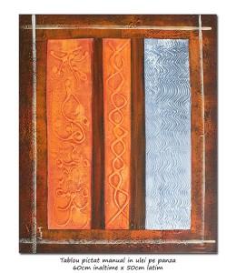 poza PRET BOMBA! Compozitie abstracta (1) - 60x50cm ulei pe panza, Magistral