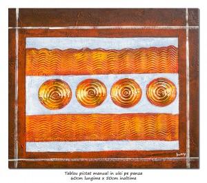 poza PRET BOMBA! Compozitie abstracta (12) - 60x50cm ulei pe panza, Superb@
