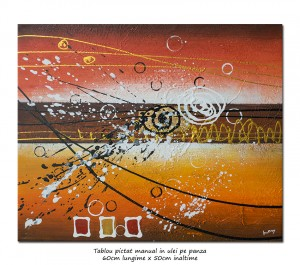 Poza Pictura abstracta - Galactic (3) - 50x60cm ulei pe panza, Superb@