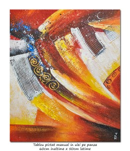 poza Space (5) - 60x50cm tablou abstract ulei pe panza, modern!