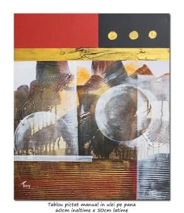 poza Calatorie prin spatiu (1) - tablou abstract 60x50cm ulei pe panza, Superb!