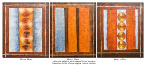 Poza Trio abstract nr.9 - tablou 3 piese a cate 60x50cm, modern