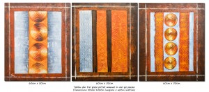 poza Trio abstract nr.11 - tablou 3 piese a cate 60x50cm, modern