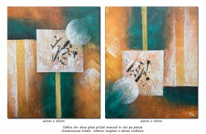 poza Lumi paralele (2) - tablou abstract 2 piese a cate 60x50cm, Spectaculos!