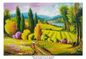 poza Plaiuri mioritice (3) - tablou GIGANT 120x80cm, pictura ulei pe panza, Magnific!