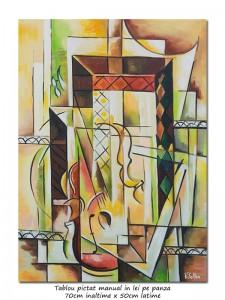 poza Sunet pur - 70x50cm pictura cubista, ulei pe panza, Magistral!