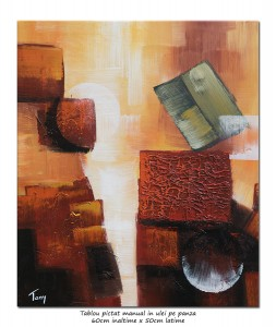 poza Space (12) - 60x50cm tablou abstract ulei pe panza, spectaculos!