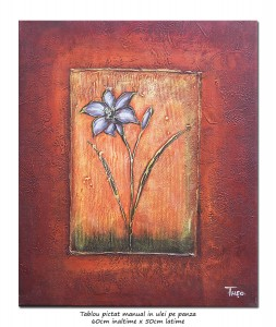 poza Margareta - 60x50cm tablou modern ulei pe panza, Superb!
