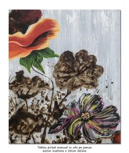 poza Flori deco (5) - 60x50cm ulei pe panza, Superb!