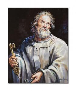 poza Sfântul Petru - tablou ulei pe panza 50x40cm, Magnific!