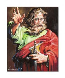 poza Sfântul Pavel - tablou ulei pe panza 50x40cm, Magnific!