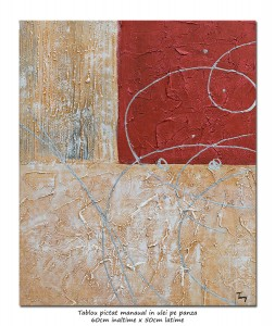 poza Tablou abstract office (4) - 60x50cm ulei pe panza, Superb!