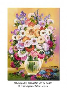Poza Carafa cu flori - pictura 70x50cm ulei pe panza, Magnific!