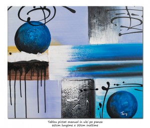 poza Calatorie prin spatiu (4) - tablou abstract 60x50cm ulei pe panza, Superb!