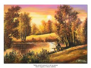 poza Tablou living - Pescarul norocos (3) - pictura ulei pe panza 70x50cm, Magnific!