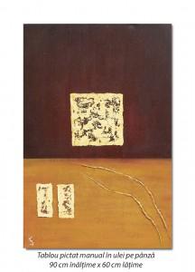 poza Compozitie abstracta (2) - ulei pe panza 90x60cm