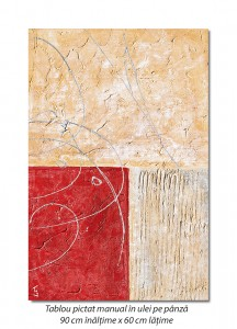 poza Tablou abstract deco (4) - 90x60cm ulei pe panza in cutit efect 3D, Spectaculos!