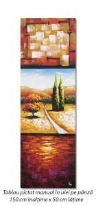 poza Peisaj modern (1) - tablou ulei pe panza 150x50cm, Spectaculos!