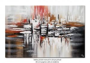 poza Fantezie (3) - 90x60cm pictura abstracta ulei pe panza, Magnific!