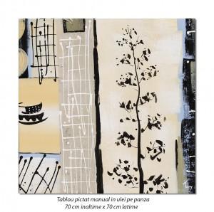 poza Decor japonez (2) - 70x70cm tablou modern ulei pe panza, Superb!
