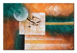 Galactic (2) - tablou abstract 90x60cm ulei pe panza, Superb!