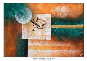 poza Galactic (2) - tablou abstract 90x60cm ulei pe panza, Superb!