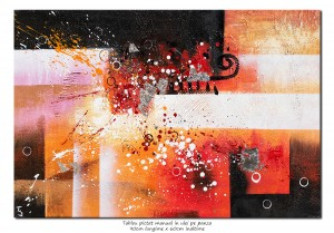 poza Tablou abstract - NO NAME (1) - 90x60cm ulei pe panza in relief, Spectaculos!