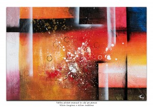 poza Tablou office abstract - NO NAME (4) - 90x60cm ulei pe panza in relief, Spectaculos!