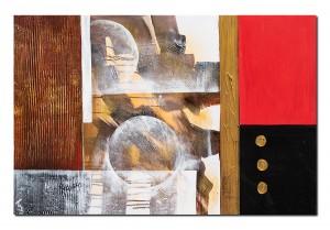 Pictura abstracta - Lumi paralele (1) - 90x60cm ulei pe panza in relief, Spectaculos!