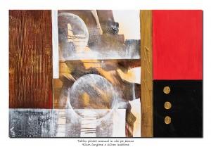 poza Pictura abstracta - Lumi paralele (1) - 90x60cm ulei pe panza in relief, Spectaculos!