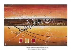 poza Fantezie abstracta (2) - 90x60cm ulei pe panza, Magnific