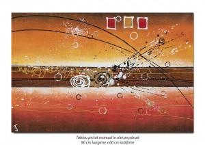 poza Fantezie abstracta (3) - 90x60cm ulei pe panza, Magnific