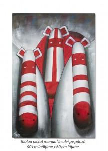PRET BOMBA! The boss (1) - 90x60cm tablou in ulei pentru un birou modern
