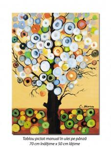 poza Copac deco (1) - 70x50cm pictura ulei pe panza, modern