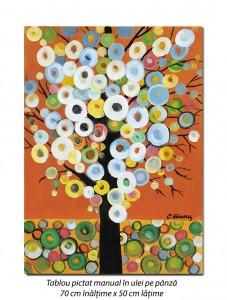 poza Copac deco (2) - 70x50cm pictura ulei pe panza, modern