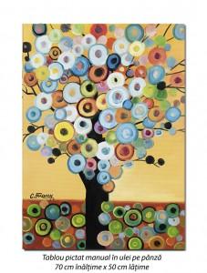 poza Copac deco (3) - 70x50cm pictura ulei pe panza, modern