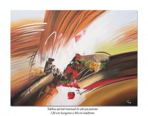 poza Tablou GIGANT - Fantezie abstracta (3) - 120x90cm ulei pe panza, Spectaculos!