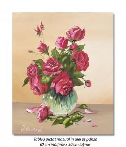 poza Trandafirii mei - 60x50cm pictura ulei pe panza, Superb!
