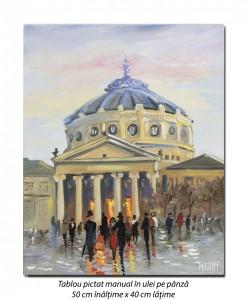 poza La Ateneu - 50x40cm pictura ulei pe panza, Magistral!