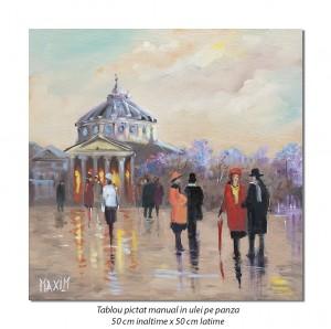 poza La Ateneu pe inserat - 50x50cm pictura ulei pe panza, Magistral!