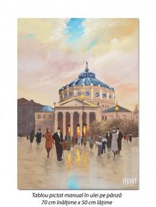 poza La Ateneu - 70x50cm pictura ulei pe panza, Magistral!
