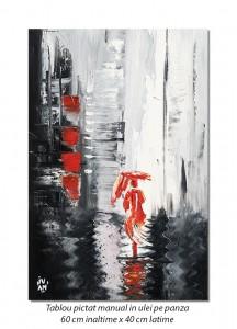 Spre o alta dimensiune - 60x40cm tablou modern in cutit pe panza, Spectaculos!