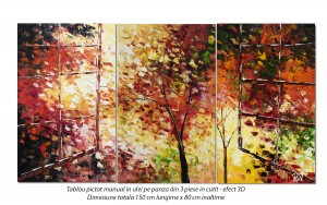poza Tablou living, dormitor - La fereastra - 150x80cm tablou 3 piese, in cutit efect 3D, Fabulos!