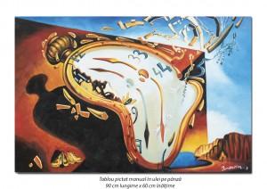 poza The Persistence of Memory (detaliu) - 90x60cm ulei pe panza, repro Salvador Dali