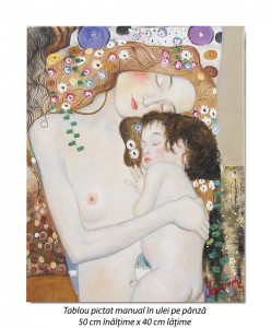 poza Cele trei varste ale femeii (detaliu) - 50x40cm ulei pe panza - repro Gustav Klimt, Magistral!